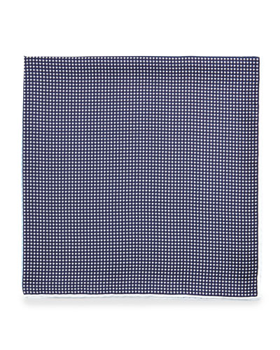 Four-Color Houndstooth Pocket Square