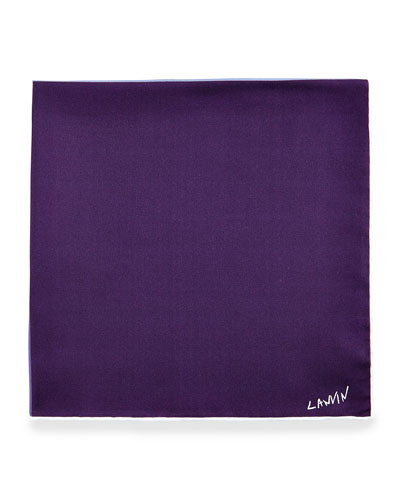 Four-Color Reversible Pocket Square, Purple