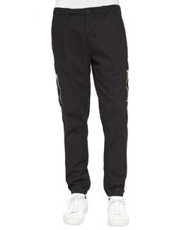 Frye Stretch-Knit Flight Pants, Black