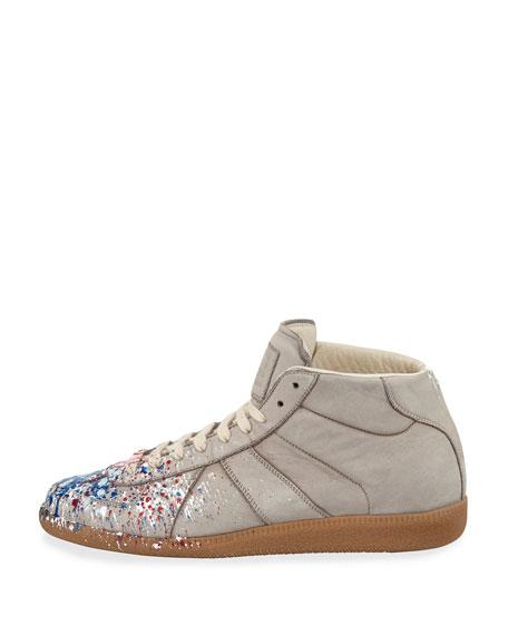 b25a55d852240f Maison Margiela Replica Paint-Splatter High-Top Sneaker