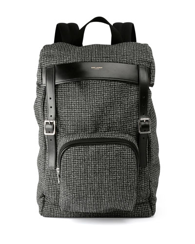 Hunting Tweed Backpack, Black/Green