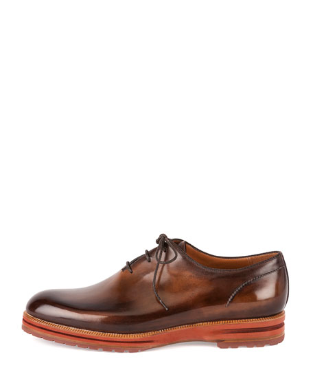 Alessio Lace-Up Oxford Shoe, Tobacco