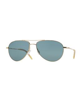 Benedict 59 Acetate Sunglasses, Gold