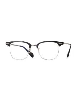 Executive I Half-Rim Fashion Glasses, Black