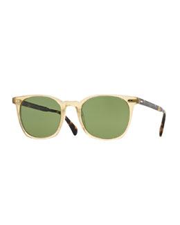 L.A. Coen 49 Sunglasses, Light Beige