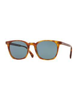 L.A. Coen 49 Acetate Sunglasses, Light Brown