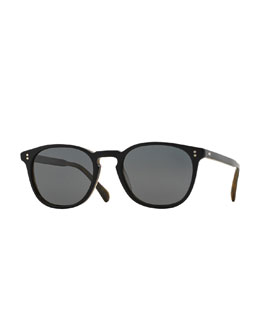 Finley Esq. 51 Acetate Sunglasses, Black