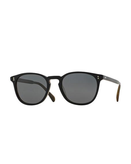 Oliver Peoples Finley Esq. 51 Acetate Sunglasses, Black