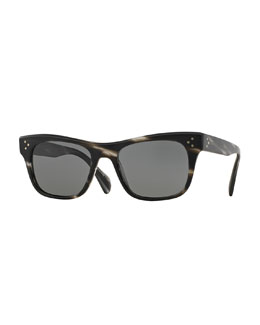 Jack Huston 52 Sunglasses, Semi-Matte Ebonywood