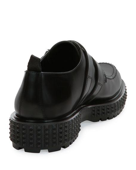 Punky-Chic Double-Monk Shoe, Black