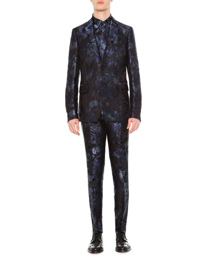 Camo Butterfly Two-Piece Suit, Navy
