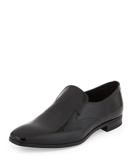 Patent Leather Slip-On Loafer, Black