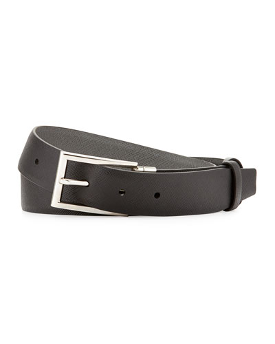 Saffiano Reversible Slim Belt