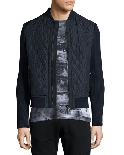 Brookside Quilted Tech Jacket, Navy