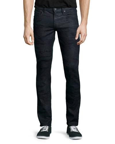 Tyler Camo-Print Poseidon Jeans, Multicolor