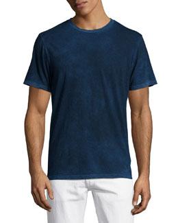 Fleming Short-Sleeve Cotton Tee, Blue