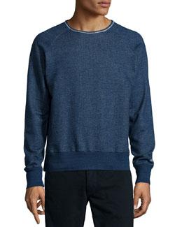 French Terry Crewneck Sweatshirt, Indigo