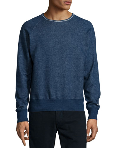 French Terry Crewneck Sweatshirt, Indigo