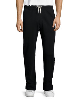 French Terry Knit Sweatpants, Black