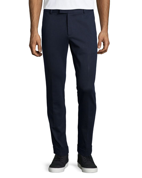 Slim Ponte Pants, Navy