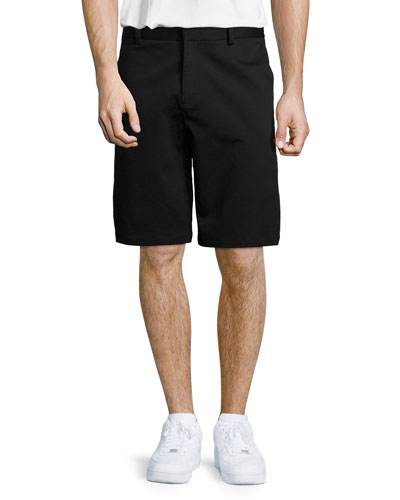 Stretch-Cotton Skate Shorts, Black