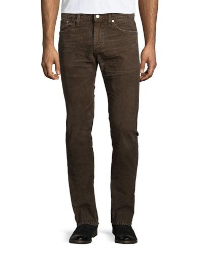 Holden Slim Corduroy Pants, Russet Brown