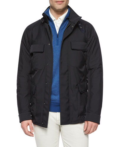 Full-Zip Storm System Jacket, Navy
