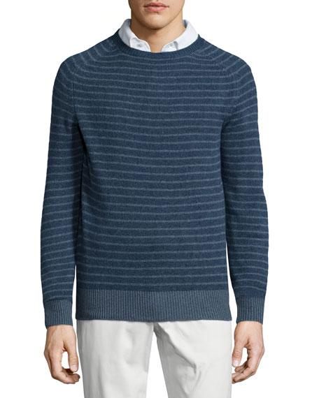b322cd1f5 Loro Piana Baby Cashmere Striped Crewneck Sweater