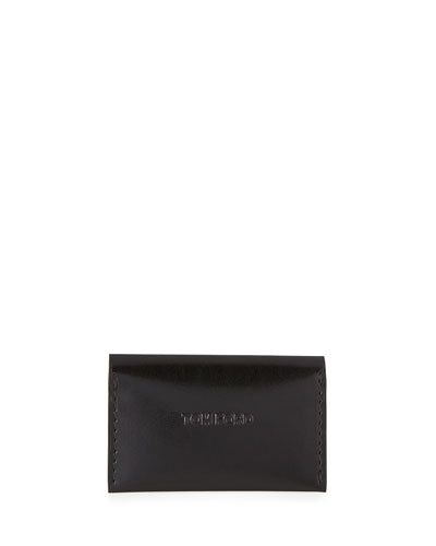 Leather Vertical Card Case, Black