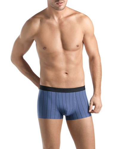 Shadow Striped Box Briefs, Blue