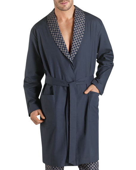 Aristide Knit Long Robe, Blue