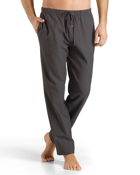 Hanro Emilien Flannel Lounge Pants, Gray