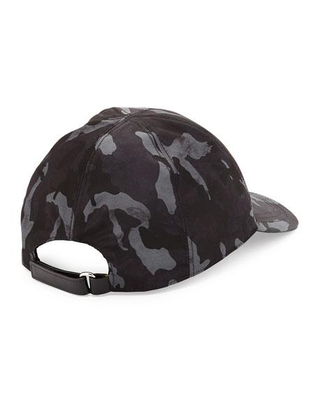Nylon Camouflage Baseball Cap, Blue