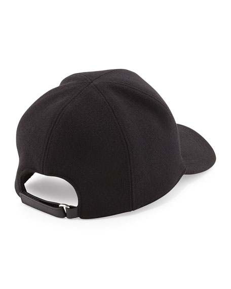 Wool Logo Baseball Cap, Black