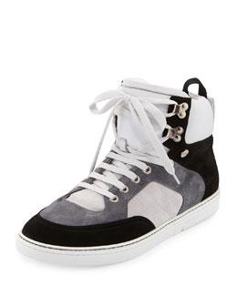 Bradley Men's Colorblock High-Top Sneaker