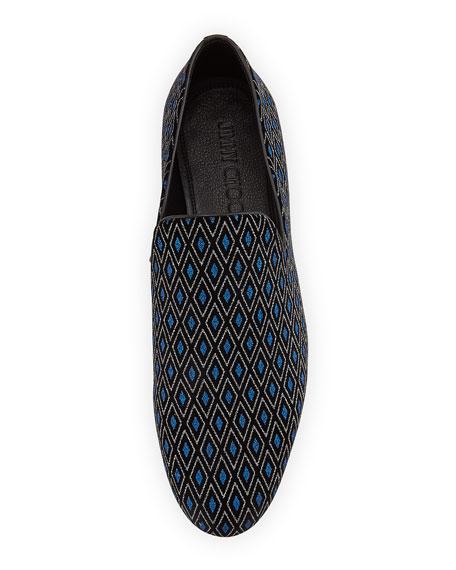 Sloane Men's Diamond-Print Loafer