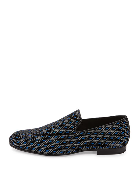 Sloane Men's Diamond-Print Loafer