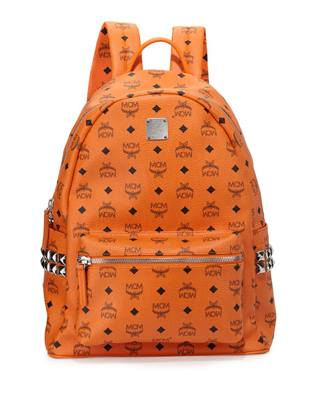 Stark Side Stud Medium Backpack, Orange