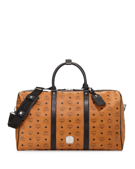 Color Visetos Large Weekender Bag, Cognac
