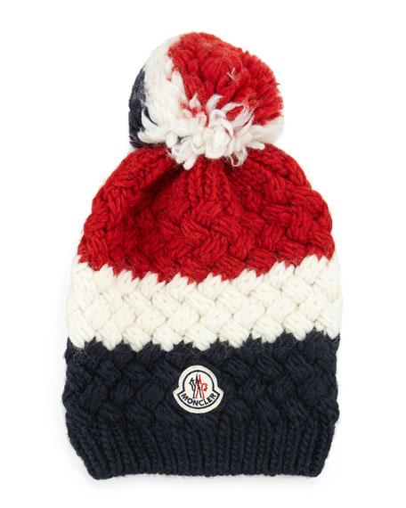 Moncler Cashmere Chunky-Knit Pom-Pom Hat c23a9ece0c