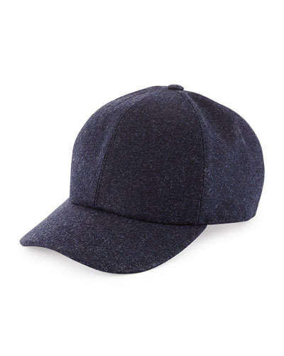 Wool Baseball Hat, Navy