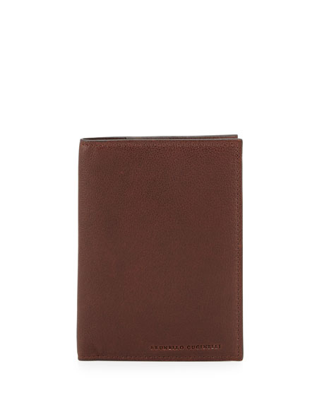 Buffalo Leather Passport Holder, Copper