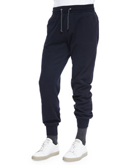 Knit Spa Sweatpants, Navy