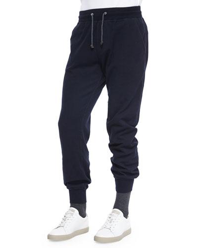 Knit Spa Sweatpants, Navy