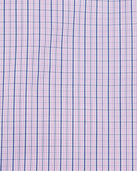 Plaid-Check Dress Shirt, Blue/Red
