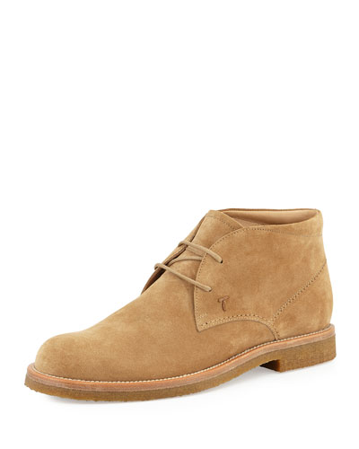 Suede Chelsea Boot, Camel