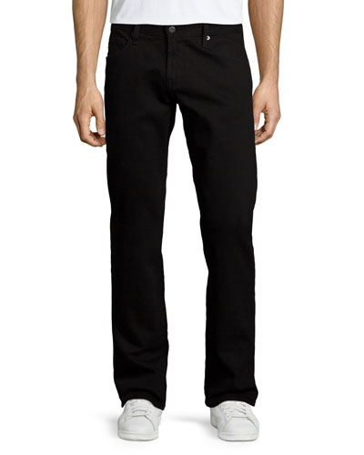 Graduate Blackbird Straight-Leg Jeans, Black