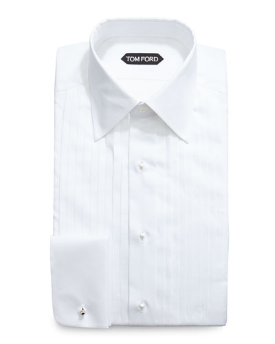 Classic-Collar Evening Dress Shirt, White