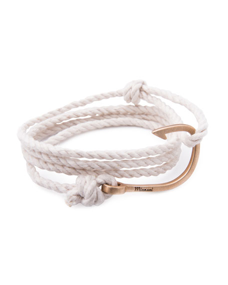 Hook Rope Bracelet, Natural