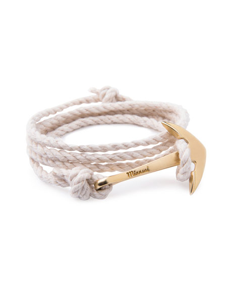 Anchor Rope Bracelet, Natural